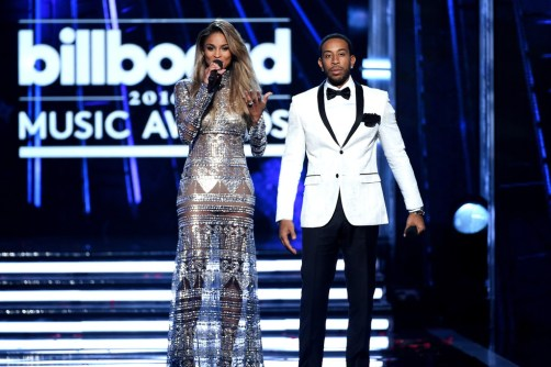 Ciara in Naeem Khan, with Ludacris