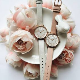 Olivia Burton €74 - Wonderland Dusty Pink and Gold http://bit.ly/1UP6TSn