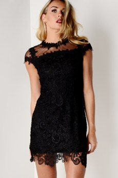 Dresses.ie €67 - Lace and Sheer Cap Sleeve Dress http://bit.ly/292lOUa