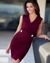 Lipsy Love Michelle Keegan Wrap Dress