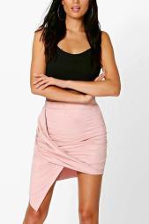 Boohoo €16 - Cate Asymetric Drape Suedette Mini Skirt http://bit.ly/2dn9iEp