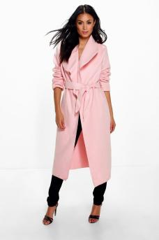 Boohoo €27 - Kate Belted Shawl Collar Coat http://bit.ly/2dz6rpm