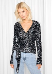 & other Stories €85 - Sequined Silk Top http://bit.ly/2dHPahZ