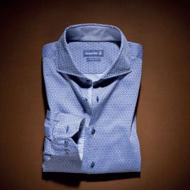 Jacques Britt, €139 - Blue Octagon Pattern Shirt https://www.louiscopeland.com/mens-casual-shirts-c111/jacques-britt-blue-octagon-pattern-shirt-p133037
