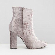 Public Desire €46.65 - Samara Grey Velvet Heeled Ankle Boots http://bit.ly/2lTLZG9
