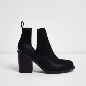 River Island €33 - Black Cut Out Boots http://bit.ly/2m8zGq5