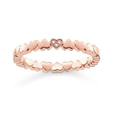 Thomas Sabo €89 - Rose Gold Heart Ring http://www.thomassabo.com/EU/en_IE/pd/ring/D_TR0013.html