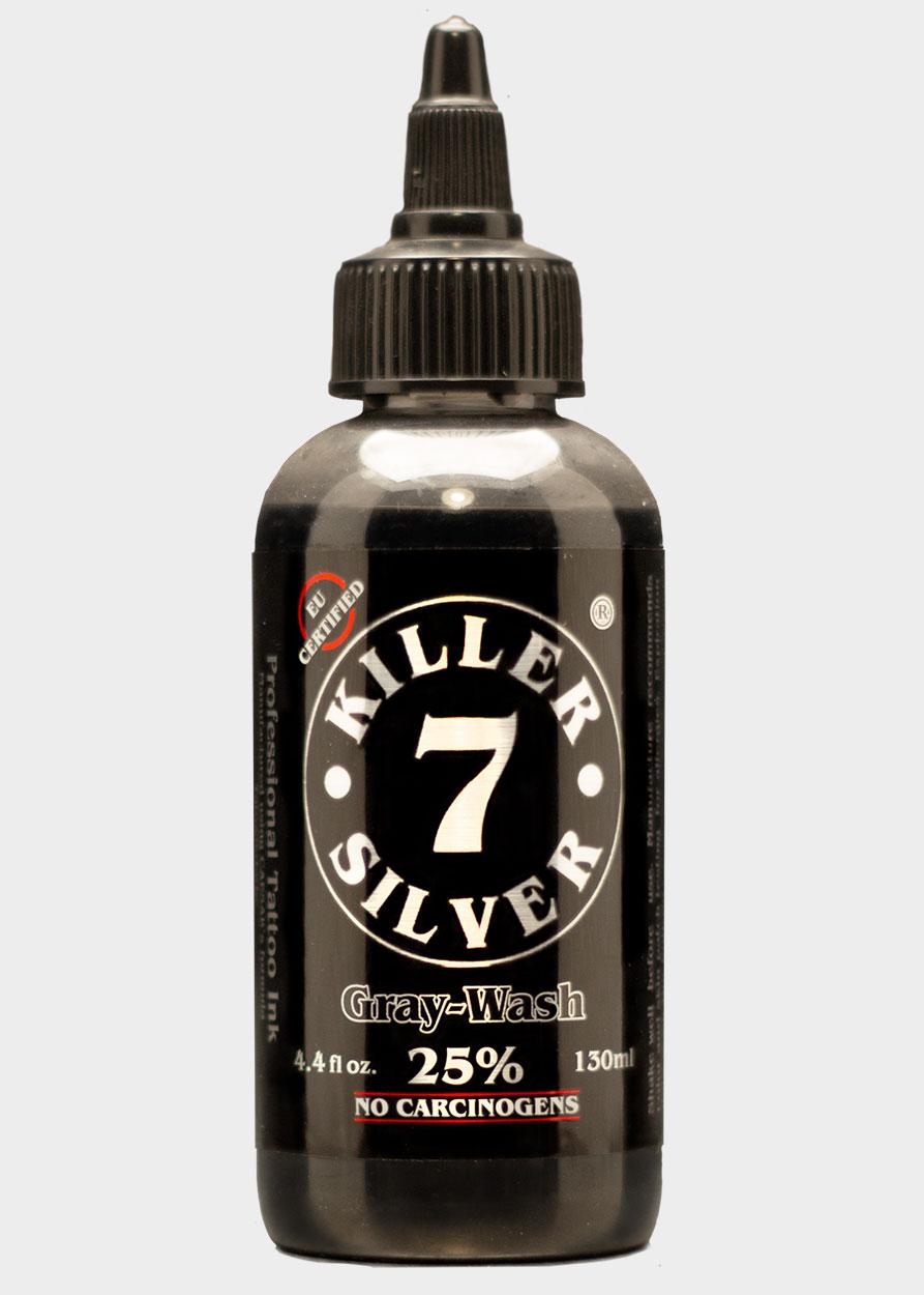 KillerSilver25%-Tattoo Ink-4.4oz.-Silver Darkness