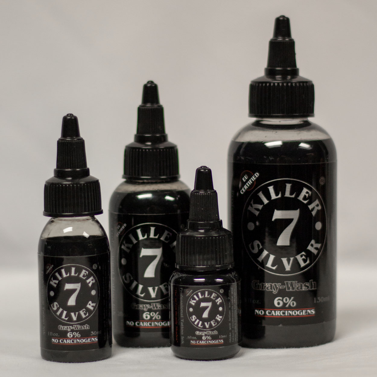 Killer Silver-Gray Wash 6%-Tattoo Ink-4 sizes-Silver Softness
