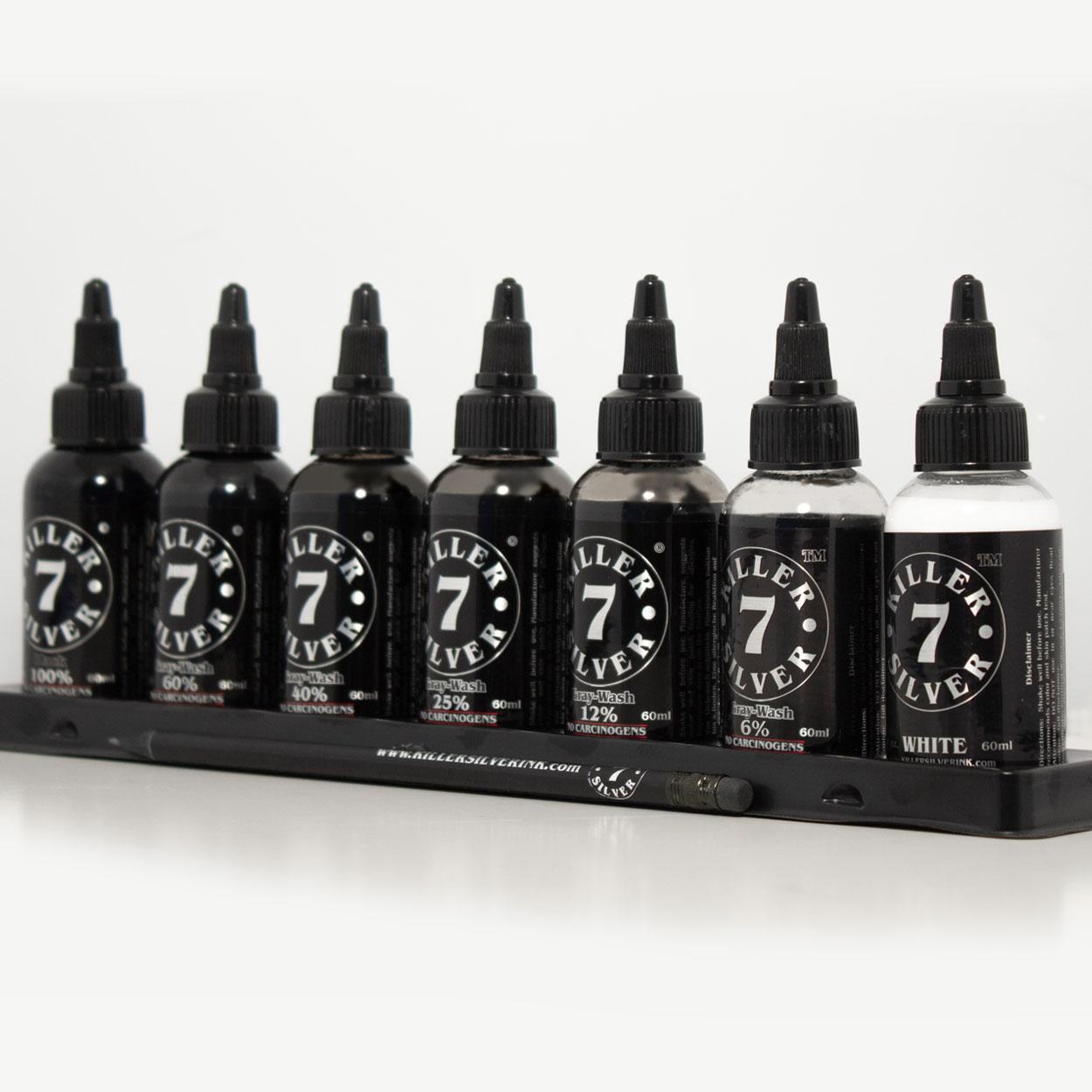 Ultimate gray-wash set - 7 bottles - 2 oz - Killer Silver
