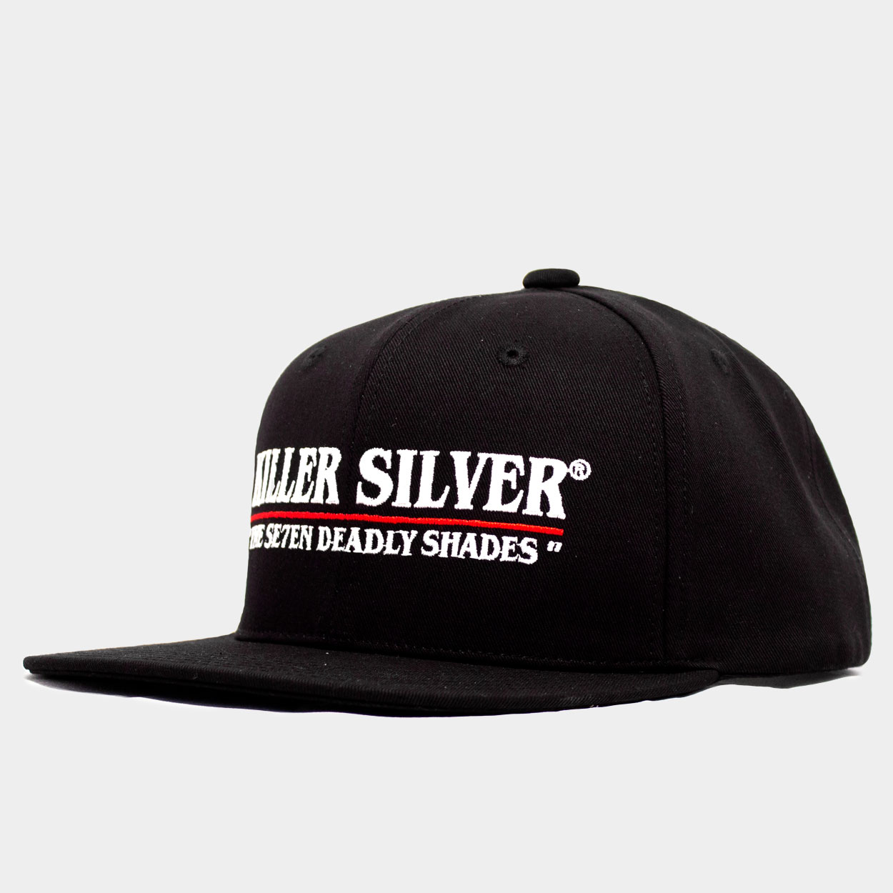 Baseball Hat-Flat Bill-Merchandise-White Thread-Killer Silver