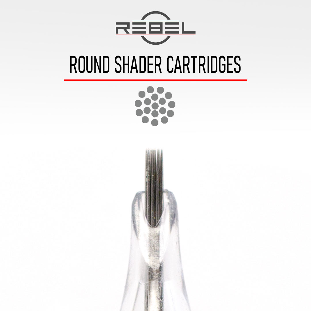 Round Shader - Precision Tattoo Cartridges - REBEL