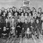 The Men who helped build the C.Y.M.S Hall Photographed before the offical opening 1954
