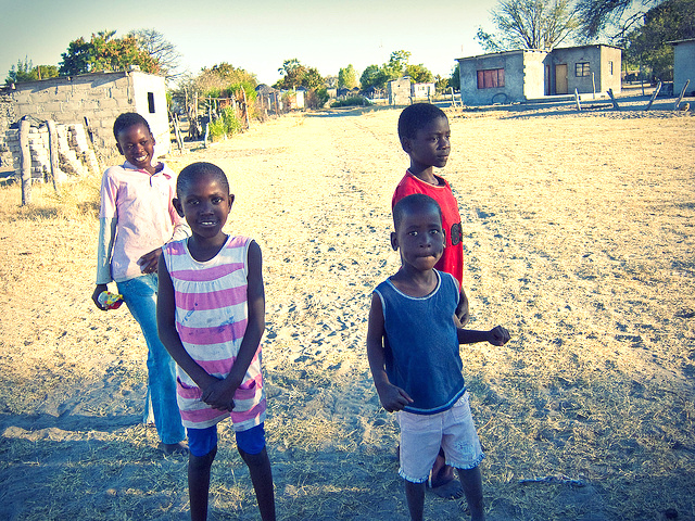 Kids in Gweta Village