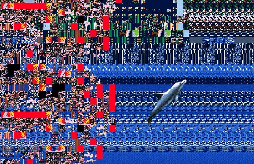Ecco the Dolphin glitch art