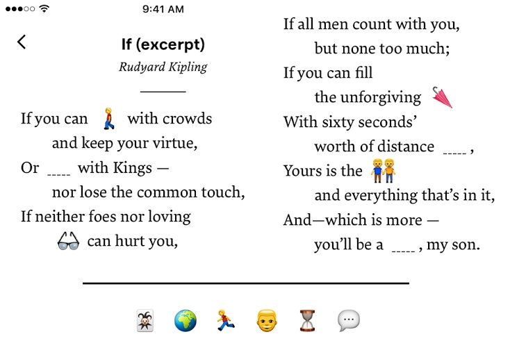 Emoji Poetry Is The Literature Class You Never Had Kill Screen