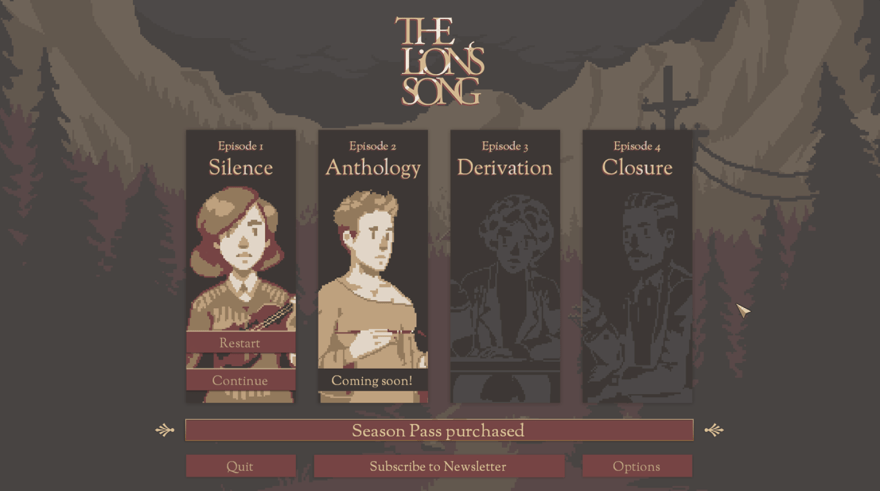 the lion's song chapter select