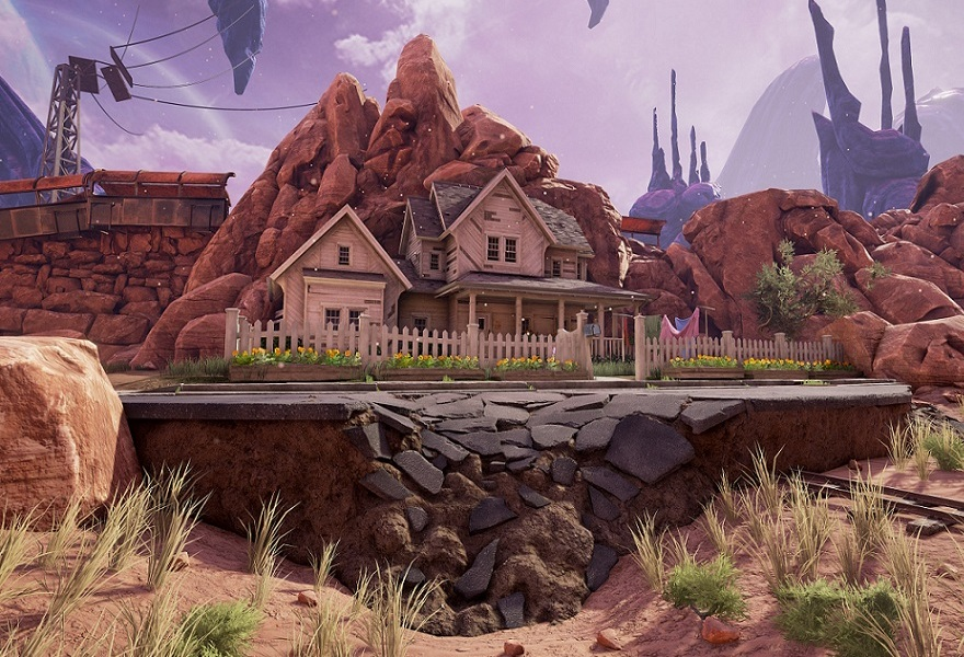 Obduction screenshot of house