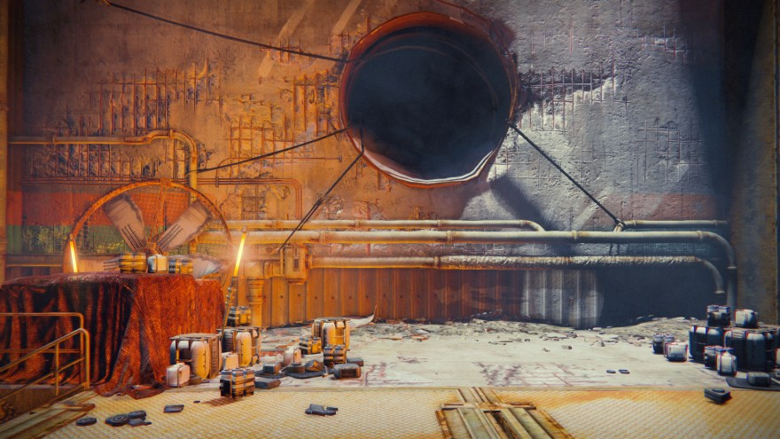 the hole in the wall from the first destiny gameplay shown