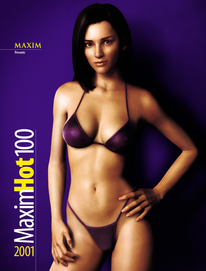 Dr. Aki Ross on the cover of Maxim magazine