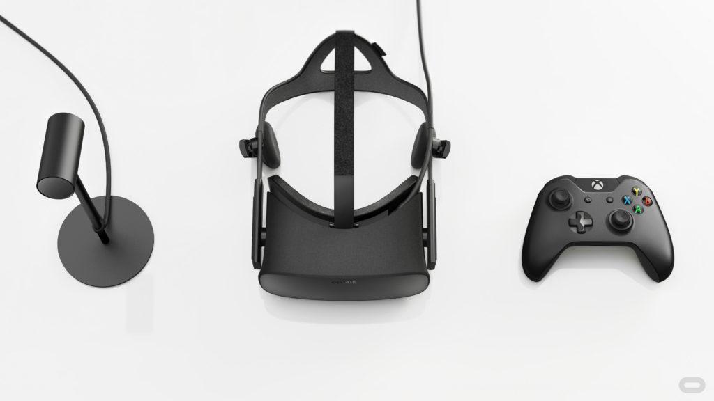 The Oculus Rift launch pack.