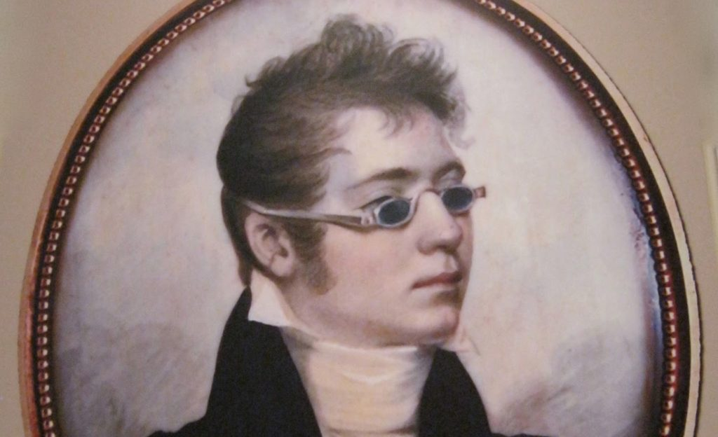A 19th century man wearing green-tinted sunglasses, via Two Nerdy History Girls
