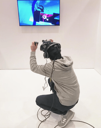 The HTC Vive Tracker tracks the D3-U while within VR.
