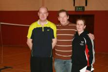 Grade C Runners-up. fergus & Donna with Club Captain Ian.