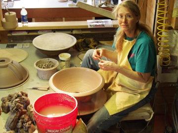Friend and Apprentice Nancy Werth — Detailing Sink