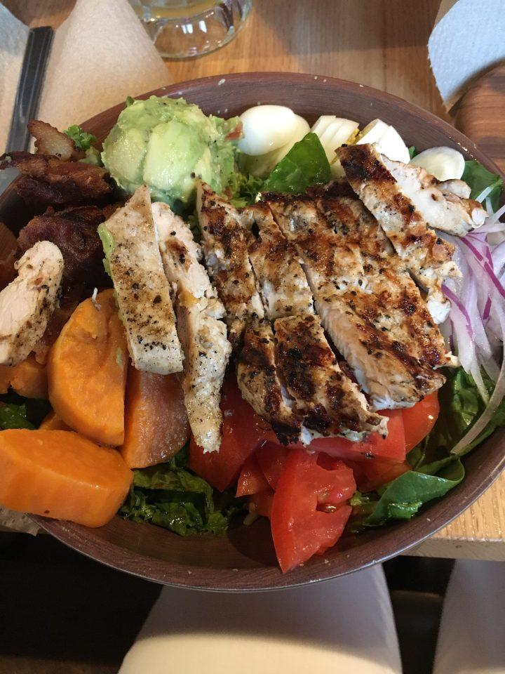 Grilled chicken salad Bang Bang Burgers