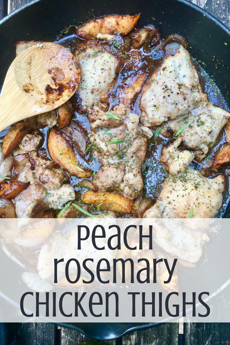 Peach Rosemary Chicken Thighs