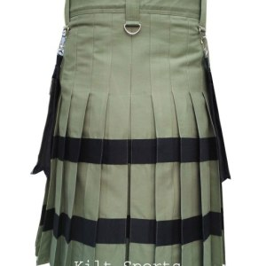 Design of Olive Scottish Sports Traditional Fashion Kilt is very unique and noteworthy