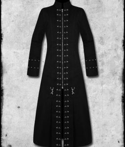 Black Hellraiser Goth Punk PinHead Vampire Jacket Trench Coat