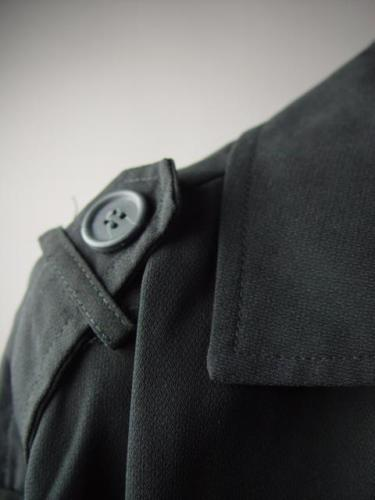 Black Victorian Military Steampunk Goth Dickens Jacket Trench 217 MV Coat (5)