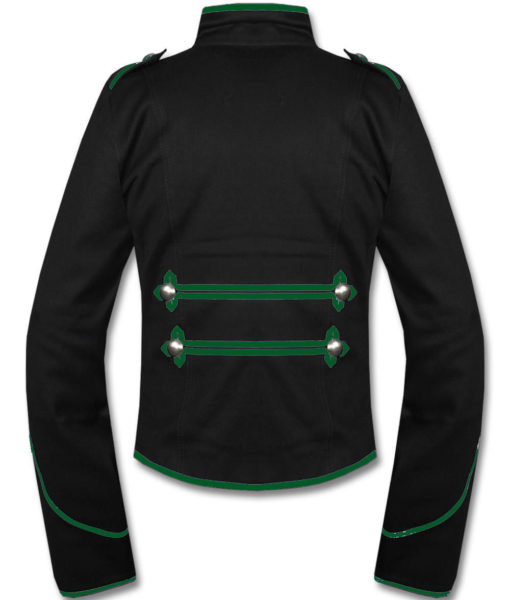 Green Black Military Marching Band Drummer Jacket New Style (2)