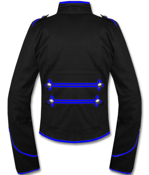Mens-Blue-Black-Military-Marching-Band-Drummer-Jacket-New-Style-Back-510×600