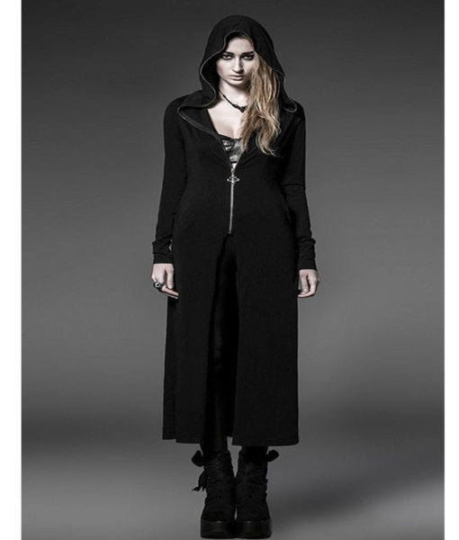 steam-long-cardigan-shirt-jacket-black-witches-gothic-visual-kei-front-model-510×600