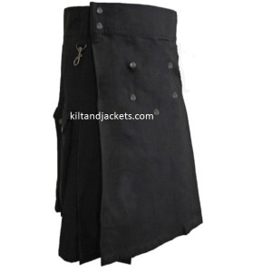 Black Men Utility Kilt