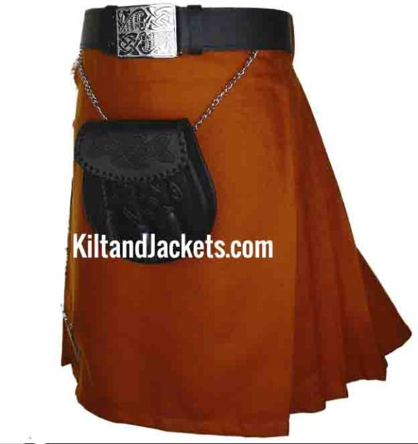 Scottish Tartan Irish Saffron Kilt 13-16 oz (2)