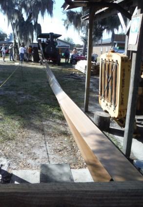 Steam engine running a huge belt