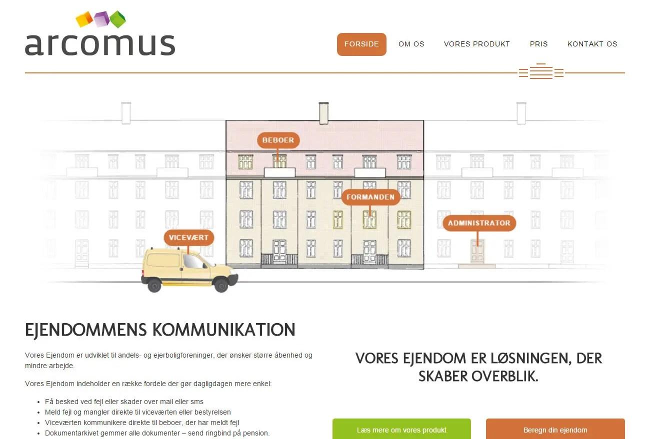 Arcomus – Websystem til din ejendom