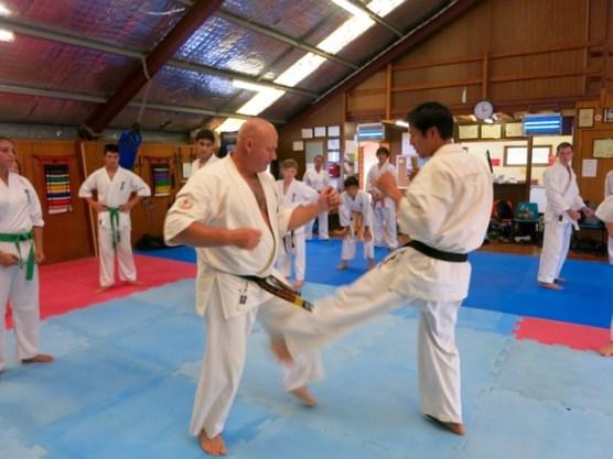 Kumite at the Sydney Seminar.