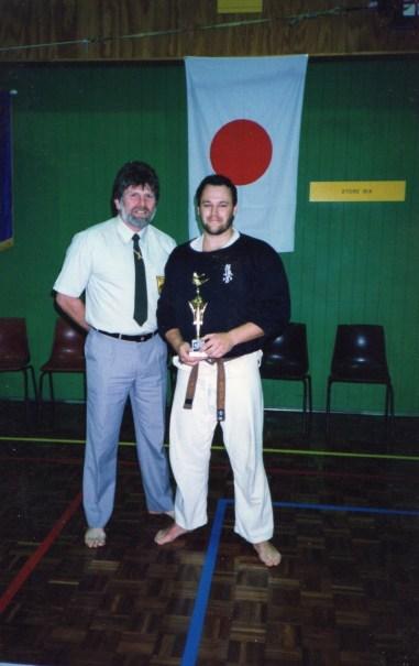 Shihan Howard and Shihan Rick at one of Shihan Rick's earlier tournaments