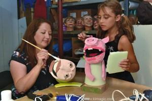 Puppet making workshop in Almonte, Ontario