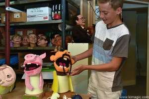 Jonathan and Ninjia character, puppets in Almonte