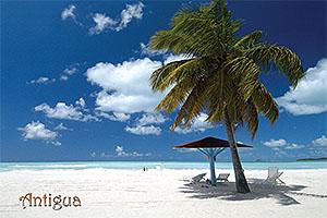 Jolly Beach Antigua Postcard ANU3603