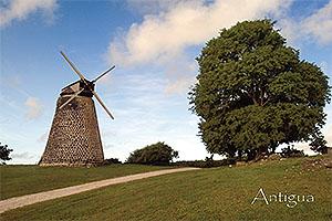 Sugar Mill, Antigua Collectible Postcard