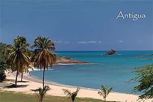 "Hawksbill Bay, Antigua W.I. Collectible Postcard ANU4651,size 153mm * 102mm ( 6"" x 4"")"