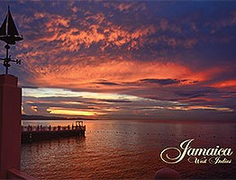 Jamaica Postcard sunset