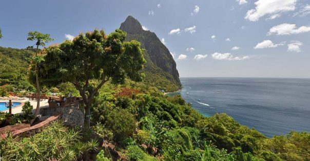 View from Stonefield Plantation, Soufriere, Saint Lucia